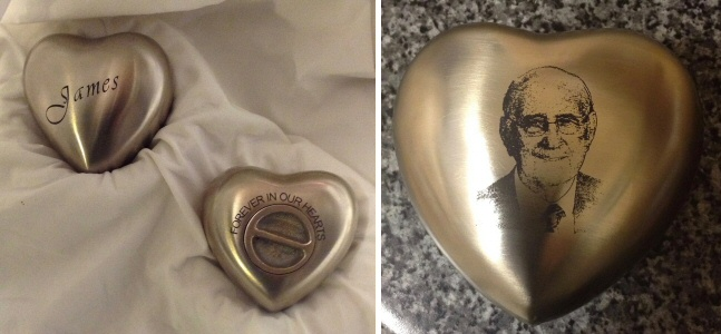 3 inch and 5 inch heart keepsakes